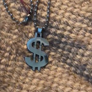 🌺 Stainless Steel Necklace Money Symbol